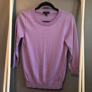 J. Crew Wool Sweater, Lavender